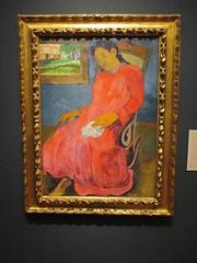 Paul Gauguin, Faaturuma (Melancholic), 1891. (hartjeff12) Tags: kansascity missouri nelsonatkins gauguin painting