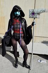 DSC_0658 (Randsom) Tags: newyorkcomiccon 2017 october7 nycc comic convention costume nyc javitscenter marvel superhero marveluniverse supervillain villainess ronan cape facepaint hood halloween scary spooky alien