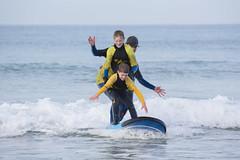 Three Rider 306/365 (rmrayner) Tags: fistralbeachsurfing surfschool longboard headlandhotel cornwall waves sea atlantic 306365 365project 365the2017edition