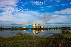 Earth,Water,Sky, Factory and it's pollution (AusBenClicks) Tags: austin benjamin lalgudi tamilnadu trichy india kuhoor photography ausbenngmailcom clicks photos