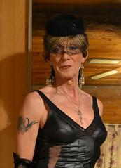 DSC_0012r (magda-liebe) Tags: tatoo travesti crossdresser closeup french tgirl minidress voilette