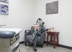 Day 3898 (evaxebra) Tags: zebra halloween 33daysofhalloween 33days costume office doctor doctors exam room wh wah magazine magazines