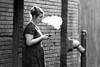 Taking a break (chase_lyda) Tags: monochrome bw smoking break girl woman downtown city boise