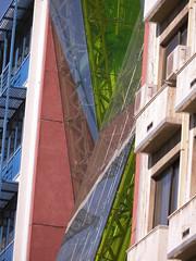 Green (Ed Sax) Tags: piraeus athens hellas griechenland fassade edsax architektur glas grün