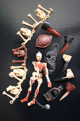 Mattel Fright Factory Toys ( 1960's ) (Donald Deveau) Tags: mattel frightfactory plastigoop toys toyphotography vintagetoy skeleton skull monsters