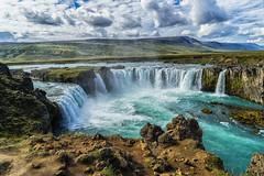 The Beauty of Iceland (*Capture the Moment*) Tags: 2017 berge clouds farbdominanz godafoss himmel iceland insel island landschaften menschen mountains people sky sonya7m2 sonya7mii sonya7mark2 sonya7ii sonyfe2470mmf4zaoss sonyilce7m2 waterfall waterfalls wolken blau blue monochrome