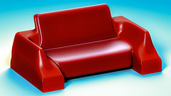 CouchD33fin (Ke7dbx) Tags: furniture couch furnituredesign industrialdesign productdesign producdesign red leather 3d cg cgi modo design designs