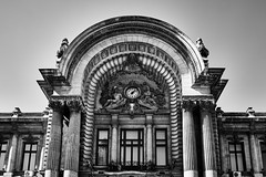 Bucharest (Petr Horak) Tags: bucharest středočeskýkraj romania rom city architecture bw blackandwhite monochrome building wclx100 x100f fuji fujix