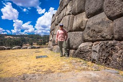 Saqsaywaman archeological site.  This shows you how big those walls are.