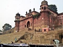 Varanasi 52 - Chet Singh ghat (juggadery) Tags: 2015 india uttarpradesh varanasi benares banaras kashi cityoflight urban architecture building ghats ganga ganges religion hindu people puccahouse boattrip