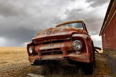The Sky is Falling ! (garshna) Tags: ford v8 pickup truck