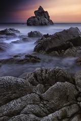 A wonderful world (Anto Camacho) Tags: landscape sunset rocks light clouds longexposure bigstopper beach lloret foam waterscape water