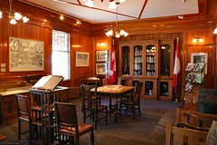 Reading Room, Banff Park Museum (Can Pac Swire) Tags: banff alberta canada canadian city national park museum nationalhistoricsite 2017aimg0057 wood log house building architecture