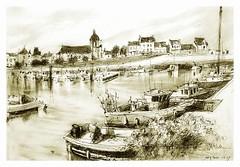 Piriac sur Mer - Pays de la Loire - France (guymoll) Tags: piriacsurmer piriac croquis crayon bateaux port paysdeloire france