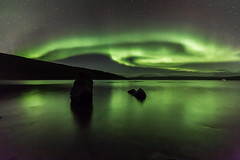 Westfjords, Iceland (Jonas Ottos) Tags: auroraborealis northernlights westfjords adventurephotography ocean rocks reflections isafjardardjup travel longexposure canoneos5dmarkiii nightsky nightphotography night arctic winter