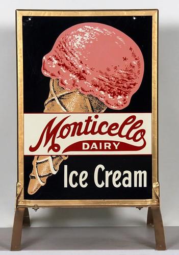Monticello Dairy Sidewalk Sign ($476.00)