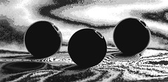 invasion of the cyclops (HansHolt) Tags: cyclops cíclopes cyclopes kyklopen zyklopen cyclopen invasion balls ball boule boules ballen bal abstract macro tabletop monochrome bw blackandwhite zw canon 6d 100mm canoneos6d canonef100mmf28macrousm