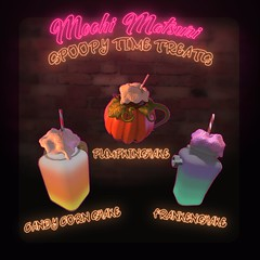 shakes (Mochi Matsuri) Tags: secondlife spoopy halloween sl decorations spooky food sweets cake cookies shakes