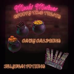 cauldrons (Mochi Matsuri) Tags: secondlife spoopy halloween sl decorations spooky food sweets cake cookies shakes