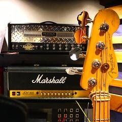 Photobomb Bass (Pennan_Brae) Tags: recordingstudio recordingsession recording musicstudio musicphotography fenderguitars fenderguitar fenderbass bass bassguitar bassist fender