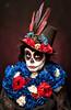 Catrina I (Sergio Nevado) Tags: catrina mejico mexico calavera mexicana retrato portrait estudio studio chica girl mujer woman dia muertos rosas roses flores flowers sombrero hat maquillaje make up
