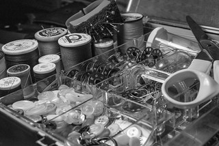 Buttons, bobbins and such (b-w)