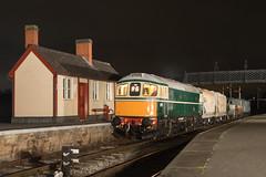 D6501 Swanwick Junction (Steveo46240) Tags: d6501 crompton class33 swanwickjunction mrc emrps midlandrailwaycentre freight night