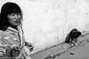 DSCF1077-Edit (Manzur takes photos) Tags: 281017nanyang fujix100t fuji china henan dog woman toothpaste toothbrush blackwhite street