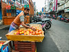 Apple seller on the road near the Grand Bazaar (debra booth) Tags: 2017 grandbazaar india pondicherry pudicherry puducherry copyrighted wwwdebraboothcom