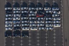 Red Car - 126 (Aerial Photography) Tags: by dgf ndb 16032013 5d329999 auto autoindustrie automobilindustrie bmw bmwwerk0240 dingolfing fabrikhallen fotoklausleidorfwwwleidorfde linien luftaufnahme luftbild pkw reihen aerial automobile car lines outdoor redcar rotesauto rows vehicle bayernbavaria deutschlandgermany deu