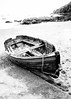 Rowing Boat At Cawsands, Cornwall  ( Black & White ) (Peter Greenway) Tags: cawsand seaside rowinggig blackwhite flickr cornwall beach rowingboat kingsand sand bw boat monchrome fishingvillage mono