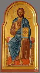 Господь Вседержитель на троне. Храм покрова Божией Матери, Ленинградская область (Кутузовское)