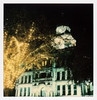 Courthouse-on-the-Square-at-Night (tobysx70) Tags: polaroid originals color sx70 instant film sx70sonar sonar courthouseonthesquareatnight denton texas tx lit illuminated nocturnal trees christmas fairy lights clock tower polacon2017 polacontwo 093017 toby hancock photography