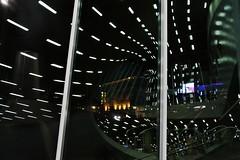 Arnhem Railway Station # 2 (just.Luc) Tags: arnhem railwaystation station treinstation gareférovière bahnhof benvanberkel window raam venster fenêtre fenster reflection reflections reflexion light licht lumière nederland paysbas niederlande netherlands gelderland architecture architectuur building gebouw gebäude bâtiment nacht nicht nuit evening avond abend soir