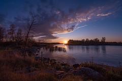 Zippel Bay Sunset - Lake of the Woods, Minnesota (Tony Webster) Tags: lakeofthewoods minnesota northernminnesota zippelbay zippelbaystatepark autumn fall fallcolors rocks sunset trees williams unitedstates us