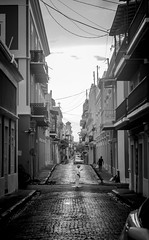 After the storm (2) - searching for a connection (xytse13) Tags: puerto rico san juan hurricane maria storm aftermath blackandwhite destruction