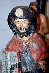 Saint Jacques collégiale de Semur-en-Brionnais (71) (odile.cognard.guinot) Tags: saôneetloire collégialesainthilaire statue 16esiècle boispolychrome saintjacqueslemajeur semurenbrionnais