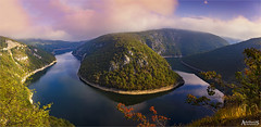 Vrbas River Bend, Bosnia and Hercegovina (AdelheidS Photography) Tags: adelheidsphotography adelheidsmitt adelheidspictures bosnia srpska vrbas river riverbend horseshoe bosniaihercegovina balkan autumn canoneos6d canonf4l2470mm fog morning scenery
