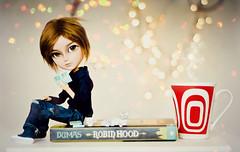 Time to relax ~ (Dekki) Tags: gregory taeyang batman asian fashion doll rewigged rechipped rement book fur wig eyelashes jun planning junplanning