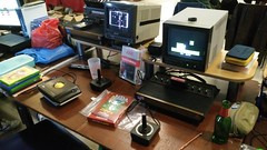 Des homebrews à disposition sur Atari 2600 (Dacobah) Tags: rgc rgc2017 retrogaming retrogamingconnexion meaux romscanner atari2600 atari homebrew