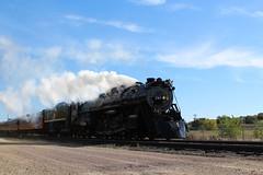 261 at Speed (Leo Blackwelder) Tags: milwaukeeroad trains steam locomotive steamlocomotive 261 themilwaukeeroad railroad rail photography industrial machinery minnesota