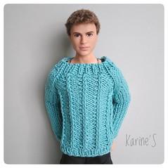 Sweater for mens (Karine'S HCF (Handmade Clothing & Furniture)) Tags: jersey handmade hecho amano ken algodón punto sweater