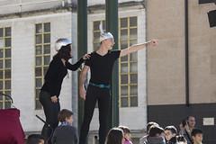 El alumnado del Colegio San Pelayo ha representado la obra Desafío Challenger en el kiosko del parque de San Pelayo.