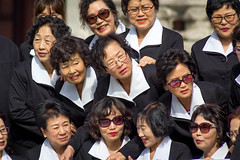 Class Reunion (Robert Borden) Tags: classmates black reunion white uniform happy smiles women group fun seoul southkorea asia canon canonrebel canonphotos