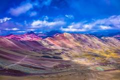 A look across the valley near Asungate (rainbow mountain).