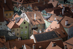 A Miniature (VIIIIVIIIIX) Tags: cesky krumlov evening sunset old town unesco ngc discovery landscape panorama sony a6000 zeiss touit 12 mm beauty wow enjoy tripod sirui lightroom blue yellow orange roof tower view spot point calm warm colors clouds autumn september 2017 postcard cz best amazing outdoor travel tree sky road building houses