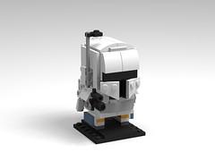 White Boba Fett - Brickheadz (Boba-1980) Tags: lego starwars boba fett white prototyp brickheadz figure afol roguebricks boba1980