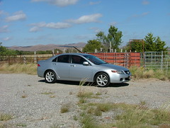 2005 Acura TSX (jHc__johart) Tags: weeds fence gravel oklahoma