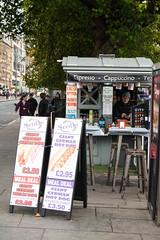 EVA_0496 (themotheroad) Tags: edinburgh scotland hotdog kiosk street photography snapshot explore travel discover adventure food new old town uk nikon d3300 espresso cappuccino tea