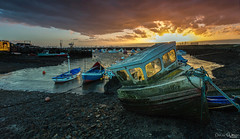 Jennifer (peterwilson71) Tags: sunset boats skys harbour reflections old wreck industrial tide sun rocks canon6d cleavland redcar